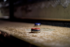 Shuffleboard Tables in Grand Rapids are at Emerald Spa and Billiards, top-quality Olhausen tables are on display.