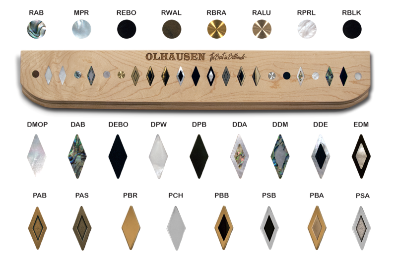 Rail Sight Options for Olhausen Pool Tables in Grand Rapids MI - Emerald Spa and Billiards