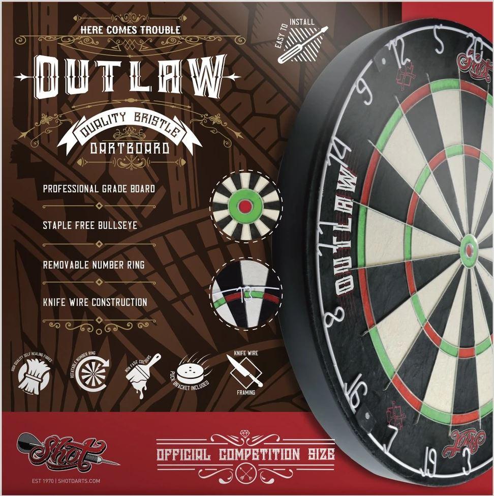 Outlaw Shot Dartboards at Emerald in Grand Rapids MI - EmeraldGR.com