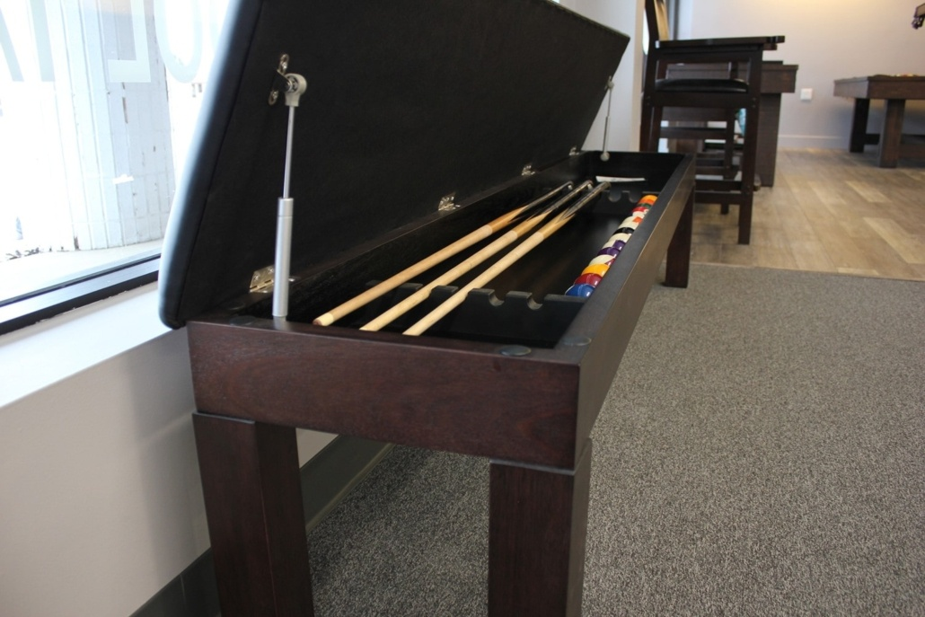 Pool Cue Storage Benches and Racks in Grand Rapids - EmeraldGR.com
